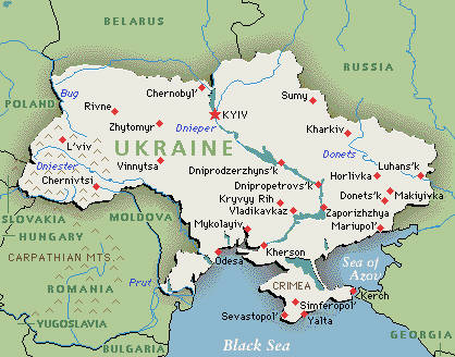 Map Ukraine